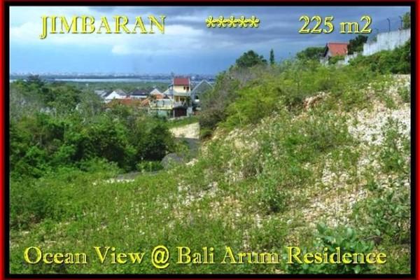 JUAL TANAH MURAH di JIMBARAN 225 m2  View laut toll Lingkungan villa
