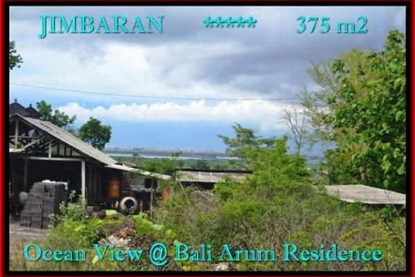 JUAL TANAH MURAH di JIMBARAN 375 m2  View laut Lingkungan villa