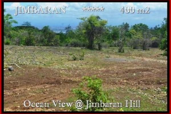 DIJUAL TANAH MURAH  di JIMBARAN BALI 400 m2  View laut Lingkungan villa