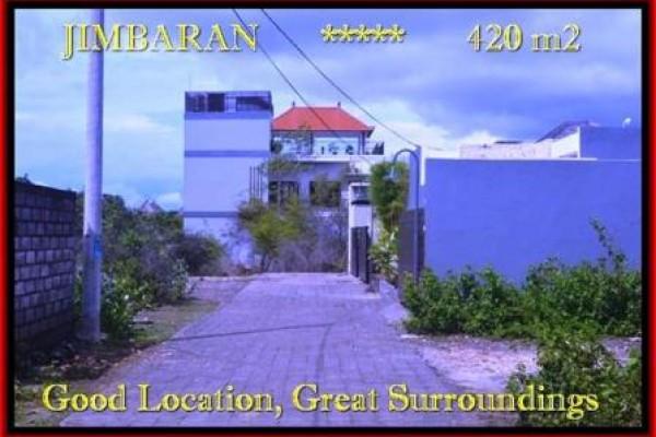 TANAH JUAL MURAH  JIMBARAN 420 m2  Lingkungan villa dan Hotel