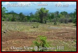 TANAH di JIMBARAN BALI DIJUAL MURAH 400 m2 View laut Lingkungan villa
