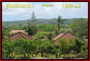 TANAH di JIMBARAN BALI DIJUAL MURAH 1.600 m2  View laut , bukit dan hotel